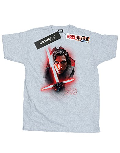 Star Wars Herren The Last Jedi Kylo Ren Brushed T-Shirt Sport Grey