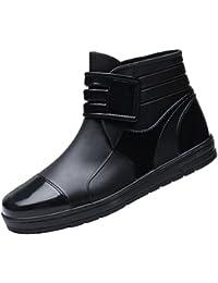 Xinwcang Botas para Hombres - Cargadores del Tobillo Impermeable Antideslizante Chelsea Shorty Boot