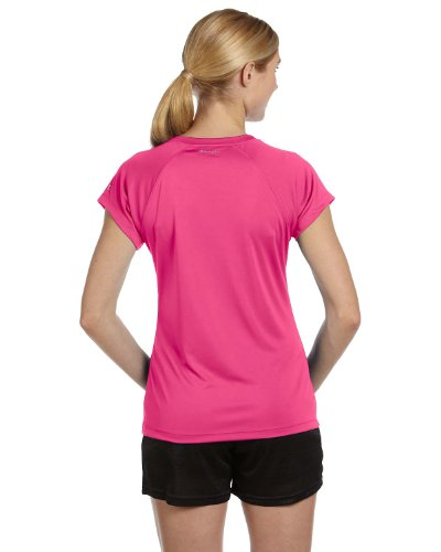 Champion Damen V-Neck Tee Essential Double Dry Wow Pink