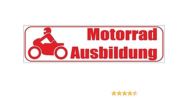 Indigos Ug Magnetschild Motorradausbildung 30 X 8 Cm Magnetfolie Für Auto Lkw Truck Baustelle Firma Auto