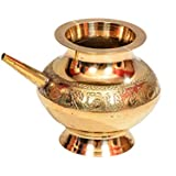 E-Handicrafts Pure Brass Lota - 4inch Height and 5 inch Width