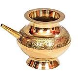 E-Handicrafts Pure Brass Lota - 4inch Height and 5 inch Width