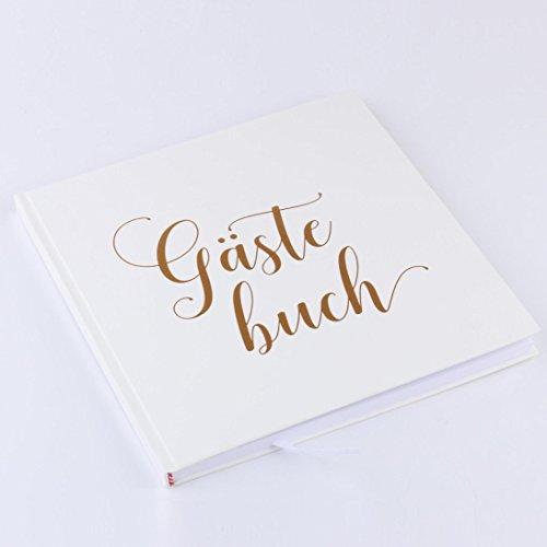 stebuch | 72 Seiten, Hardcover, hochwertiges Papier | Vintage Guest-Book für die Hochzeit, Taufe oder den Geburtstag | Hochzeits-Buch | Hochzeits-Album | Hochzeits-Gästebuch ()