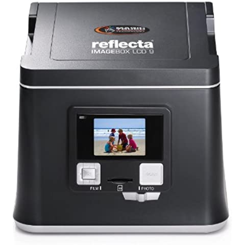 Reflecta Imagebox LCD 9 - Escáner (36,5 x 24,3 mm, 2400 x 2400 DPI, 30 Bit, Film/slide, Negro, LCD)