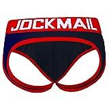 JOCKMAILHerren Jock Strap Unterhose Jockstrap Push Up Rot Blau (XXL)