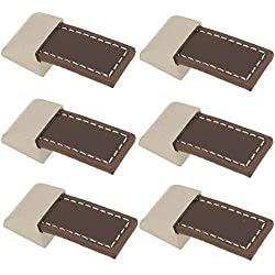 FBSHOP(TM) 6pcs de alto grado retro learther armario cajones de las manijas del cajón, maleta maletín jala perillas, gabinete del vino de madera tiradores de la caja, hardware de los muebles