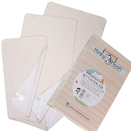 Wasserdichte Matratzenauflage aus Bio-Baumwolle für Kind & Baby - GOTS & OEKO-TEX 100 zertifiziert | atmungsaktiv & wasserundurchlässig |Betteinlage/Matratzenschoner fürs Kinder Bett - 60x120 cm
