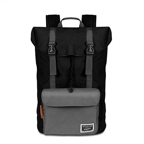 22L Nylon Wasserdicht Bergsteiger Tasche Hohe Kapazität Travel Bucket Bag Outdoor Sport Wandern Klettern Rucksack Daypack Schwarz