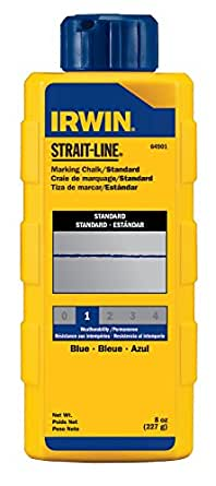 Strait-Line Chalk Refill 8 Ounce Blue 64901