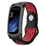 KOBWA Für Samsung Gear Fit 2 Pro/Gear Fit 2 Armband, Soft Silikon Armband Uhrenarmband Sportband Armband für Samsung Gear Fit2 SM-R360 / Gear Fit2 Pro SM-R365 Smartwatch