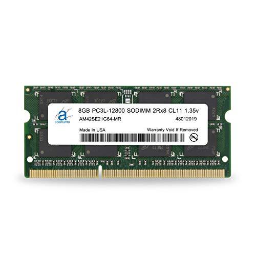 Non Parity Dimm-speicher (Adamanta 8GB (1x8GB) Laptop Speicher Kit DDR3 1600MHz PC3L SODIMM 2RX8 CL11 1.35 V Notebook RAM Dram)