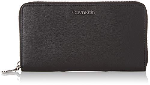 Calvin Klein Damen Tack Large Ziparound Xl Geldbörse, Schwarz (Black) 2.5x20x11 cm