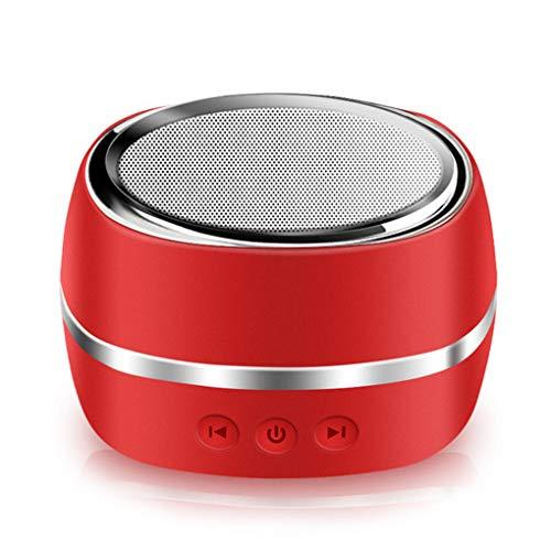 YMYJZ Drahtlose Bluetooth-Speakers, Portable Speaker Loud Stereo Sound Outdoor Sports Smart Mini Speaker Mobile Car Rich Bass 20M Bluetooth Range für iPhone iPad Car Travel,Red (Ipad Travel Lautsprecher)