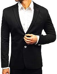 BOLF Hombre Americana Blazer Traje Elegante Slim Fit 4D4 Mix ad74e1c2dc1
