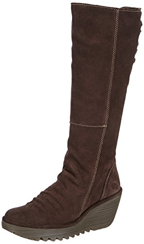Fly London Yust Oil Suede, Women's Boots, Espresso 4 UK