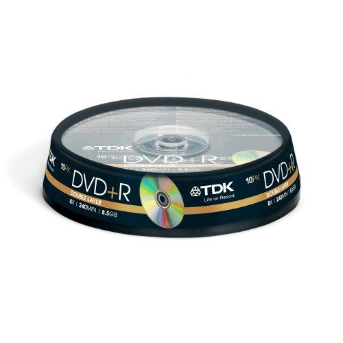 TDK T19924 DVD+R double couche 8x Lot de 10