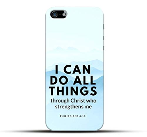 Pikkme Quote/Quotes - I Can Do All Things Throough Christ - Jesus God Bible Lord Designer Printed Hard Back Case and Cover for Apple iPhone 5 / 5S / SE