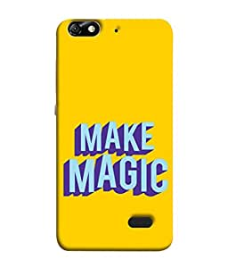 Fuson Designer Back Case Cover for Huawei Honor 4C :: Huawei G Play Mini (Awesome Make Magic Words)