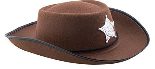 hut mit Sheriffstern- Kinderkostüm Cowboykostüm , Braun ()