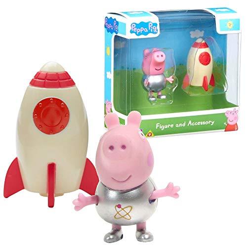 Character World Selección Figuras del Juego   Peppa Pig   Figura con Accesorios, Figura:George Pig con Cohete