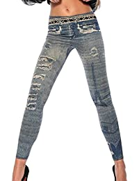 jowiha® Stylische Herbst Winter Leggings leicht gefütter angenehm zu tragen in verschiedenen Ausführungen Größe XS-M