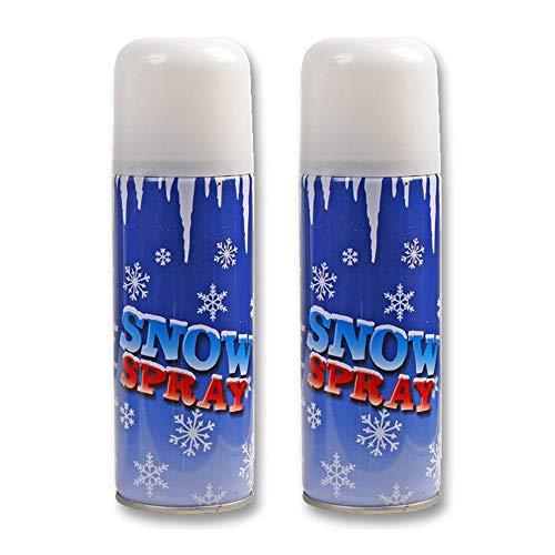 PRO-ELEC 2 x Weihnachts-Schneespray 250 ml künstliche künstliche Weihnachtsbaum-Dekoration
