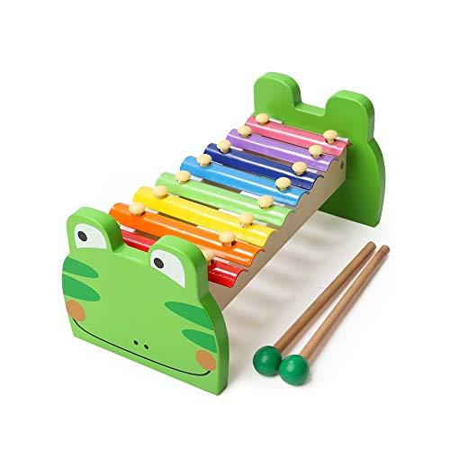 Alapet Personalità Eight-tone Xilofono Puzzle per bambini Battere Toy Boy Girl Educazione precoce Illuminismo Giocattolo Moda Cartoon Otto-tono Xilofono Logica Pensiero Mano coordinazione occhio gioca