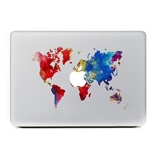 er, Morbuy abnehmbare Kunst Creative Anti-Kratz-Beschichtung Skin Vinyl Schutz MacBook Aufkleber Pro 13 A1706 / A1708 ( Touch Bar /Non Touch Bar) (Ölgemälde Welt) (Snoopy Cupcake Ringe)