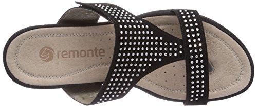 Remonte - R7452, Sabot Donna Nero (Nero (01 nero))