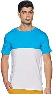 Amazon Brand - Symbol Men's Solid Regular Fit Half Sleeve Cotton T-S