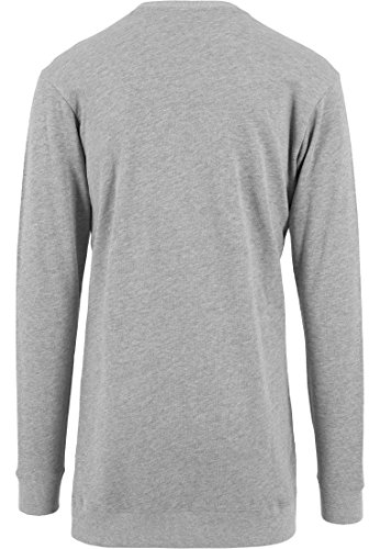 URBAN CLASSICS - Long Light Fleece Crewneck (grey) Grey