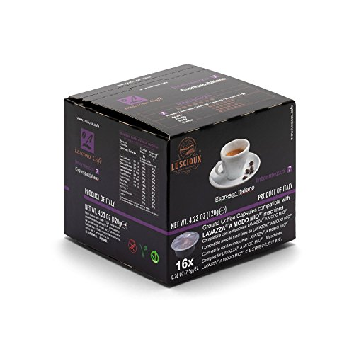 LUSCIOUX Kapseln Intermezzo - Intensität 7-192 Lavazza A Modo Mio®* kompatible Kaffee-Kapseln (12 x 16 Kapseln)