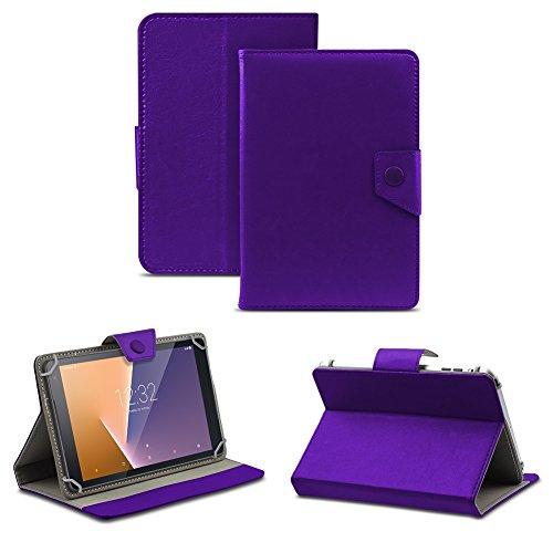NAUC Tablet Tasche für Vodafone Tab Prime 6/7 Schutzhülle Hülle Case Schutz Cover, Farben:Lila