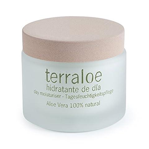 Terraloe High-End Daily Moisturizing Gesichtscreme, mit 100% natürlicher Aloe Vera, 50 ml.
