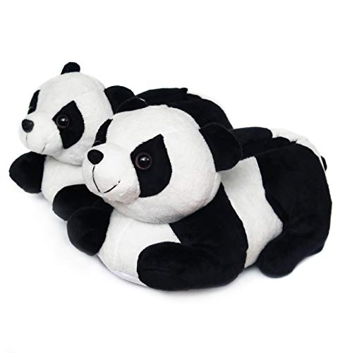 Onmygogo Indoor Fuzzy Winter Animal Panda Plush Slippers for Men, Women and Kid