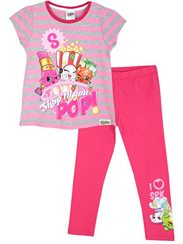 Shopkins Mädchen Shopkins T-Shirt Kurzarm und Leggins 116 (Pj Kurze Set)