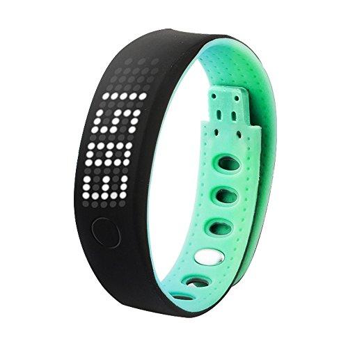 OPAKY Smart Armband Schrittzähler Schlaf Monitor Gesundheit Armband Bluetooth Uhr für Kinder, Damen, Männer