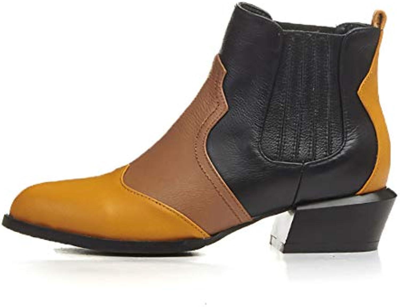 dlbj woHommes 's 's 's martin bottes mode cuir épais plein air a court de bottes souliers antidérapa ntes impe rméab le s b07hh2khzh parent 58c504