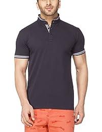 Tinted Men's Cotton Blend Henley Neck Half Sleeve T-Shirt