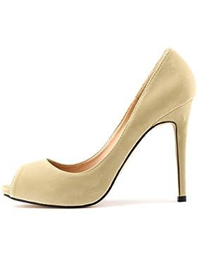 MEI&S ÂDonna Bocca di pesce Stiletto bocca poco profonda Prom Tacchi Alti Wedding Corte pompe scarpe