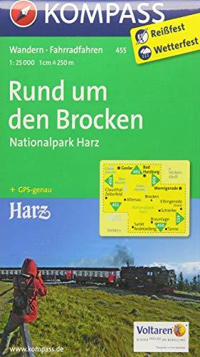 Rund um den Brocken - Nationalpark Harz 1 : 25 000 (KOMPASS-Wanderkarten, Band 455)