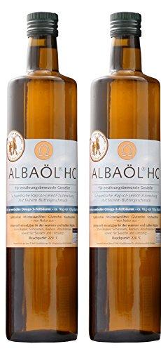 2er Pack Alba - Albaöl Rapsöl mit Buttergeschmack (2 x 750 ml)
