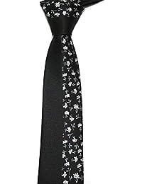 4912dad2c Andre 6 cm Raya Negra Floral Corbata Flaca diseño clásico 100% Seda Hombres  Atar Partido de Todo Partido Noche de Negocios Boda Novio en…