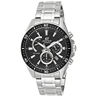 Casio Edifice Men's Black Dial Stainless Steel Chronograph Watch - EFR-552D-1AVUDF