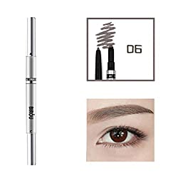 Multifunctional Eyebrow Pencil,mamum 3 In 1 Waterproof Multifunctional Automatic Eyebrow Pigment Makeup Kit Beauty (F)