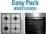 BEKO BSE21030X Conjunto de Horno, 60 cm y Clase energética A y Placa de Gas de 58 cm, Acero INOX,...