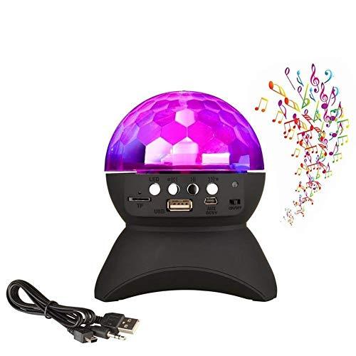 NBE LED-Bühnenscheinwerfer Bluetooth Lautsprecher, RGB-Disco DJ Bühne Bluetooth Lautsprecher Leuchten, Unterstützung TF-Karte zu Spielen FM Radio für Party, Halloween, Weihnachten, Geburtstag, etc.