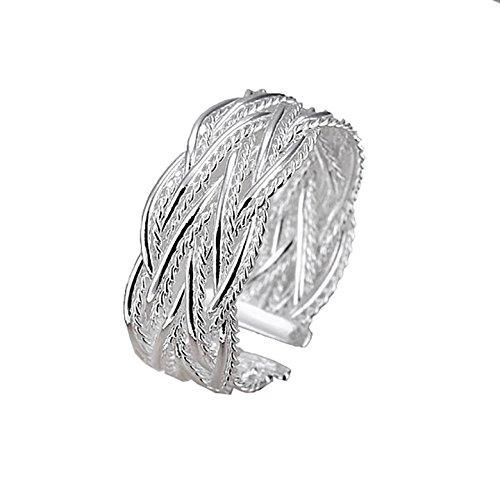 Mes-Bijoux-Bracelets Bague Anneaux Multiples Argenté Argent Sterling 925 000  Cadeau Femme 8df246ed006f