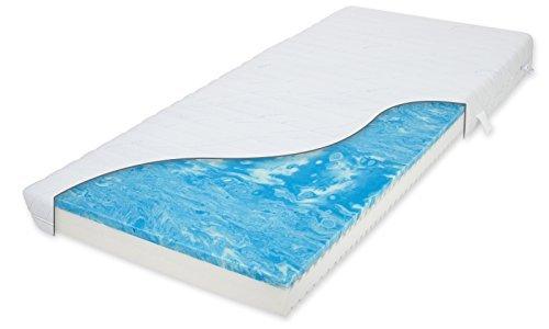 Matratzenheld Odysseus Bodyfine Gelschaummatratze 90x200 cm H3 | Für Allergiker und Hygienebewusste | Matratzenbezug Waschbar bis 60° C | 7 Zonen Matratze | Made in Germany
