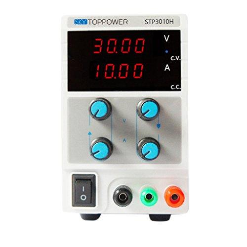 ELECTROPRIME Adjustable 4-Digit DC Power Supply Precision Variable Digital Lab 10A 30V EU
